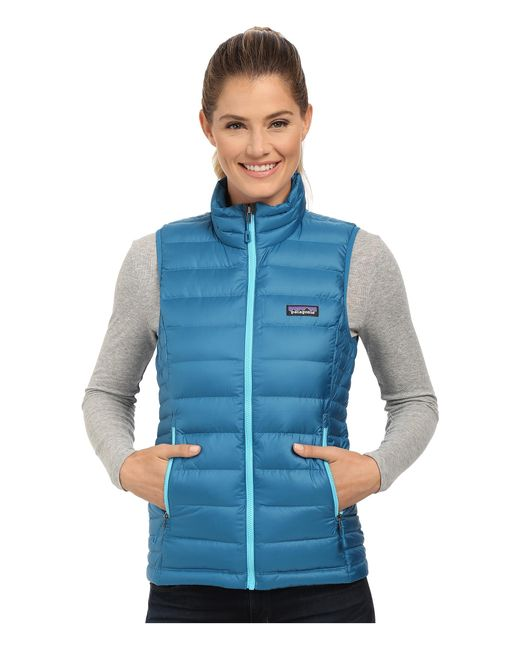 Patagonia | Blue Down Sweater Vest | Lyst
