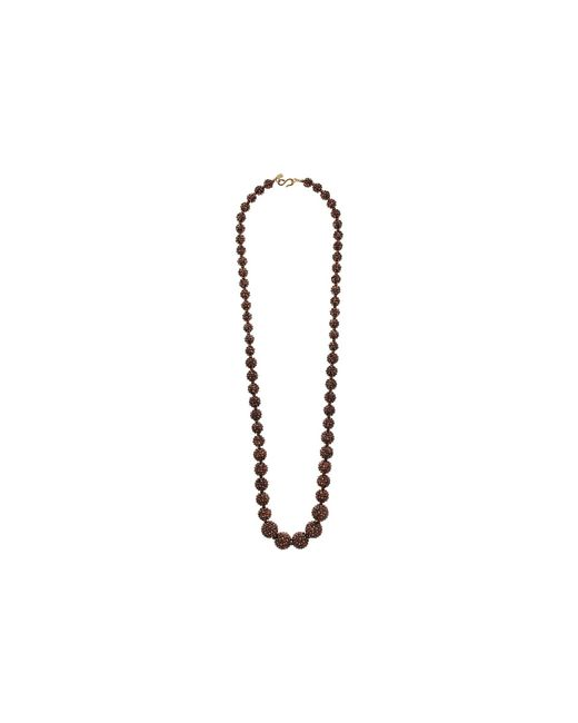 Kenneth Jay Lane - Metallic Bronze Pave Graduated Bead Necklace - Lyst