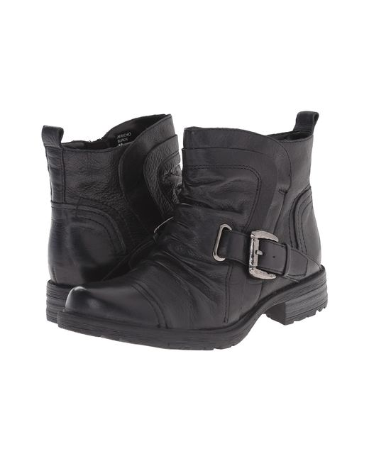 Earth   Black Jericho Leather Ankle Boots   Lyst