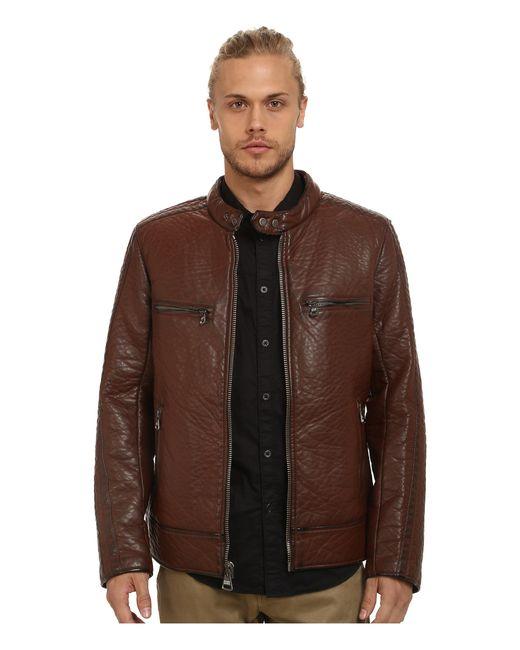 Marc New York | Brown Gramercy Bubble P/u Moto Jacket W/ Chest Zipper Pockets for Men | Lyst