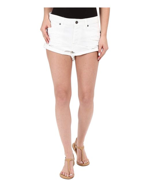 Volcom | White Stoned Rolled Shorts | Lyst