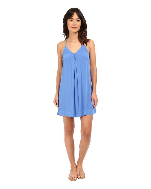 Michael Stars | Blue Modern Rayon Cami Tank Dress | Lyst