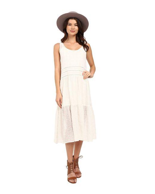 BB Dakota | White Clara Embroidered Chiffon Trapeze Dress With Slip | Lyst