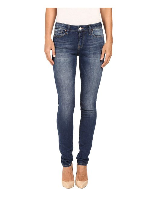 Mavi Jeans | Blue Alexa Mid-rise Skinny In Dark Indigo Tribeca | Lyst