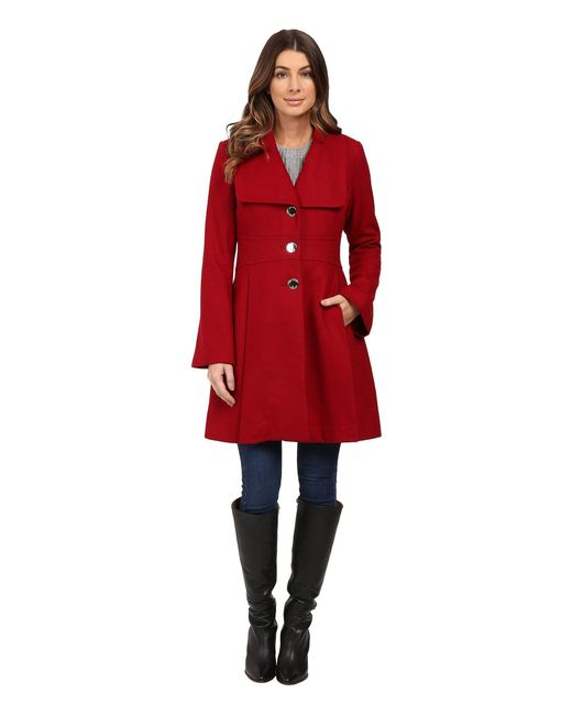 Jessica Simpson - Red Melton Bell Sleeve With Waist Detail - Lyst