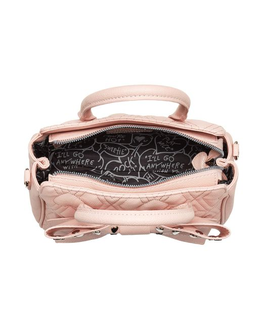 20fd317c24 ... Betsey Johnson - Pink Mini Bow Satchel - Lyst ...