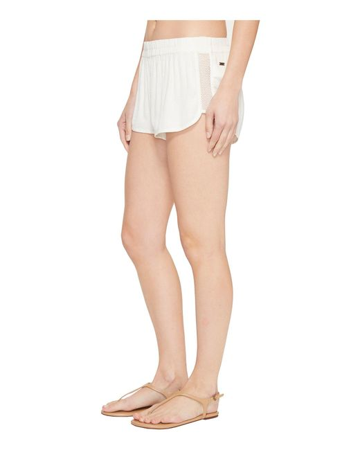 Roxy | White Surf'n'go Beach Short Cover-up | Lyst