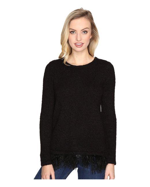 Kensie | Black Textured Boucle Sweater Ksdk5535 | Lyst