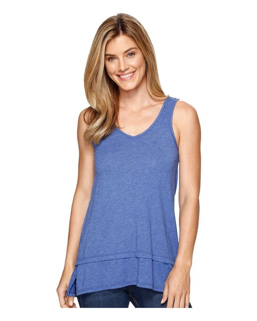 Mod-o-doc   Blue Heather Jersey Banded Tank Top   Lyst