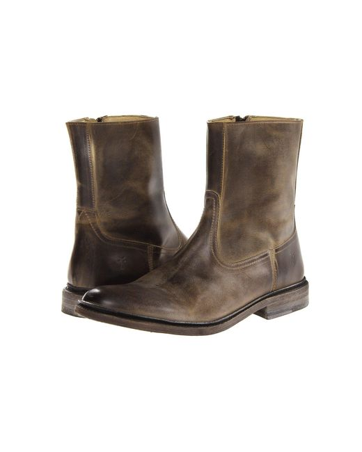 Frye | Brown James Inside Zip for Men | Lyst