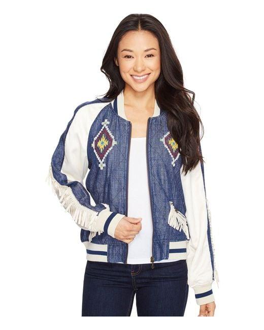 Double D Ranchwear | Blue Indian Head Souvenir Jacket | Lyst