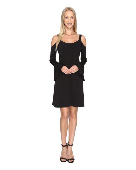 Karen Kane   Black Cold Shoulder Flare Sleeve Dress   Lyst