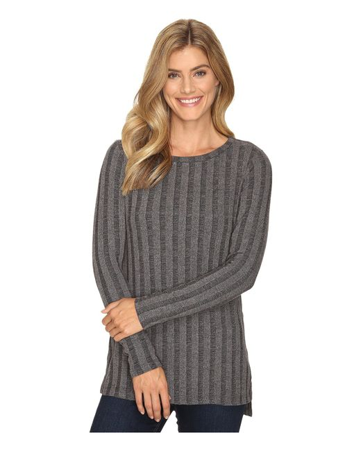 B Collection By Bobeau - Gray Alex Rib Knit Tee Shirt - Lyst