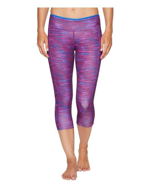 Reebok | Purple Core Capris - Print | Lyst