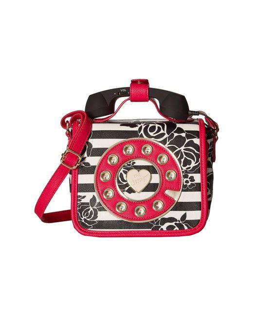 Betsey Johnson | Red Mini Phone Crossbody | Lyst