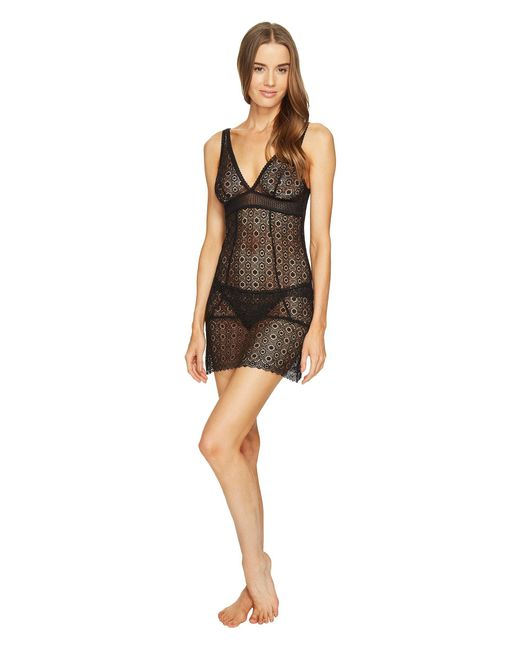 Else | Black Coachella Plunge Soft Cup Fitted Chemise | Lyst