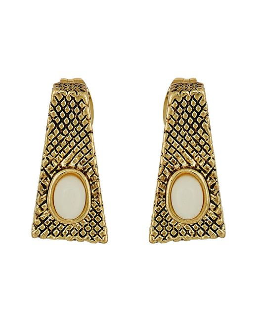 House of Harlow 1960   Metallic Tanta Crosshatch Stud Earrings   Lyst