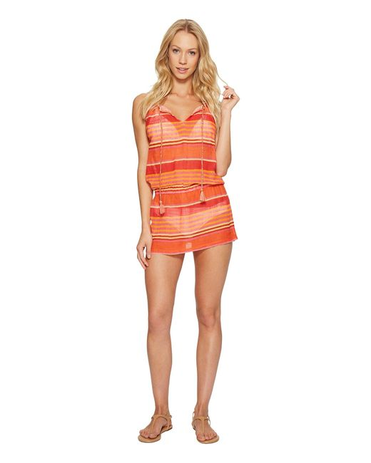 Polo Ralph Lauren   Orange Playa Stripe High Neck Dress Cover-up   Lyst