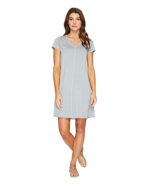 Mod-o-doc - Multicolor Cotton Modal Spandex French Terry Short Sleeve T-shirt Dress - Lyst