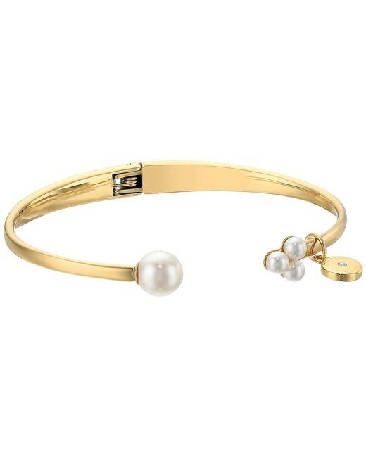 Michael Kors | Metallic Modern Classic Pearl Open Hinge Bracelet | Lyst
