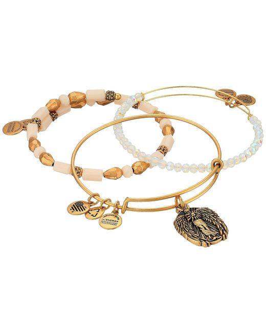 ALEX AND ANI | Metallic Moonlight Knowledge Bracelet Set Of 3 | Lyst
