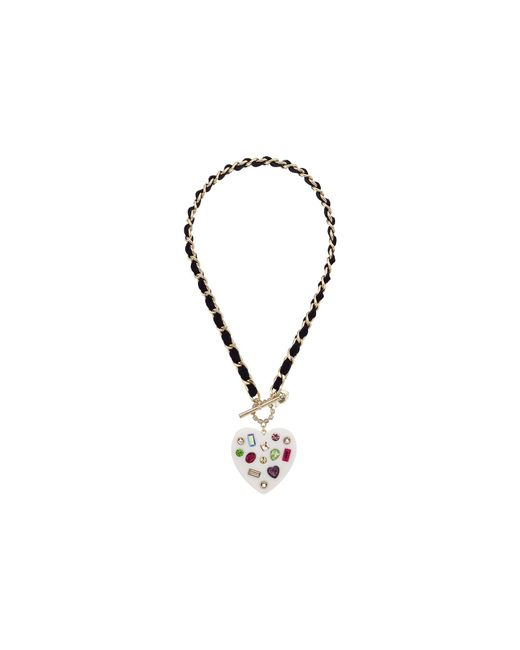 Betsey Johnson | Metallic Chain And Ribbon Pendant Necklace | Lyst