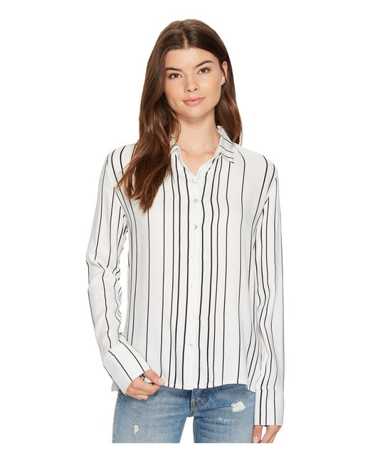 MINKPINK | White Stripe Soft Shirt | Lyst
