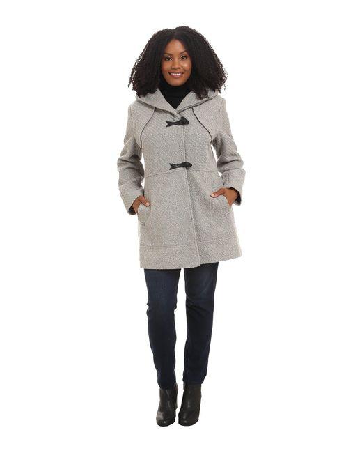 Jessica Simpson - Gray Plus Size Braided Wool Duffle Coat - Lyst