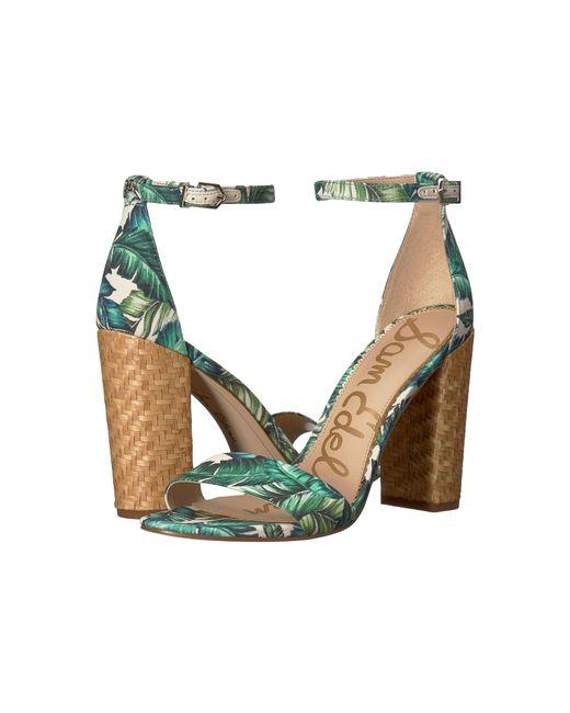 7a90194ba850e9 Sam Edelman - Multicolor Yaro Ankle Strap Sandal Heel - Lyst ...