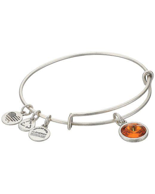 ALEX AND ANI - Metallic November - Topaz Birthstone Bracelet - Lyst