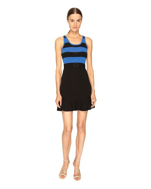 Boutique Moschino - Black Striped Top Belted Dress - Lyst