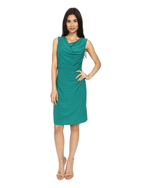 Rsvp | Green Susan Rouched Side Dress | Lyst