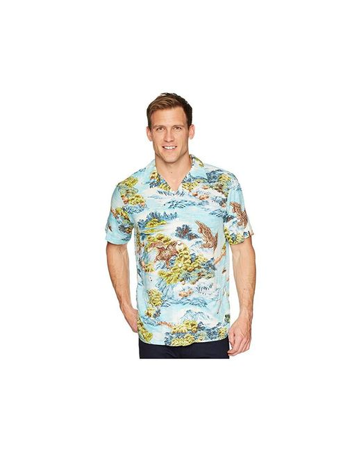 faa32a4a Polo Ralph Lauren - Blue Classic Fit Printed Camp Shirt (landscape Hawaiian)  Clothing for ...