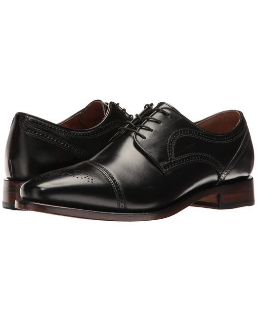 Johnston & Murphy - Black Collins Dress Cap Toe Oxford for Men - Lyst