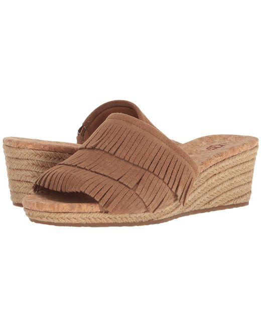 Ugg - Brown Kendra Wedge Sandal - Lyst