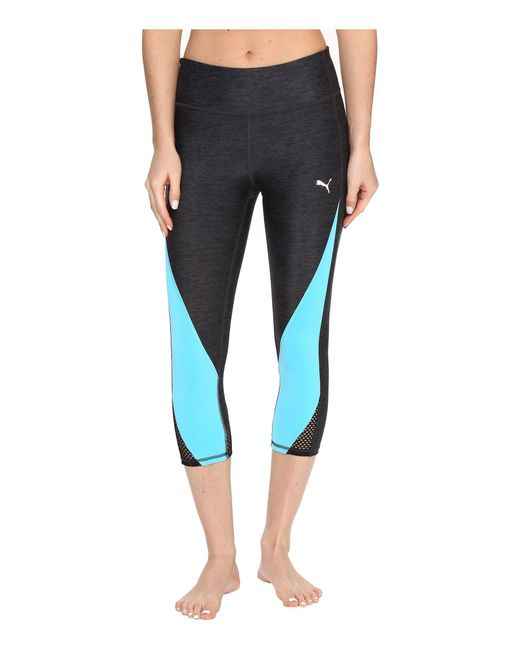 PUMA - Blue Explosive 3/4 Tights - Lyst