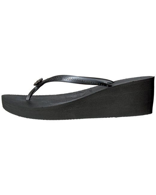 2387851ca2fbf9 Lyst - Havaianas High Fashion Poem Flip-flops in Black - Save ...