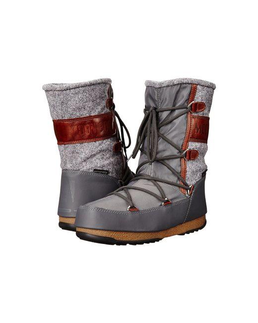 Tecnica - Gray Moon Boot® Vienna Felt - Lyst