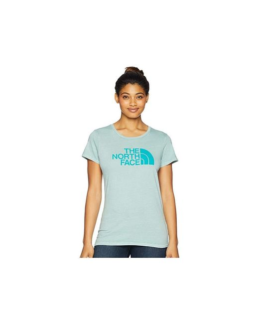 The North Face - Short Sleeve 1/2 Dome Pigment Crew Tee (blue Haze/porcelain Green) T Shirt - Lyst