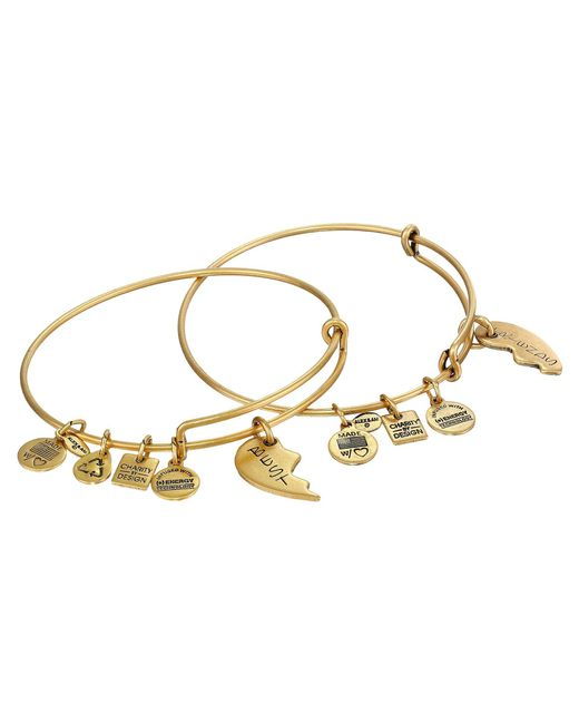 ALEX AND ANI - Metallic Best Friends Set Of 2 Charm Bangle - Lyst