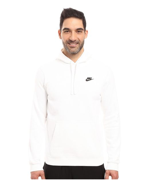 757b4f19f2fa8 Nike - Club Fleece Pullover Hoodie (obsidian obsidian white) Men s Fleece  for ...