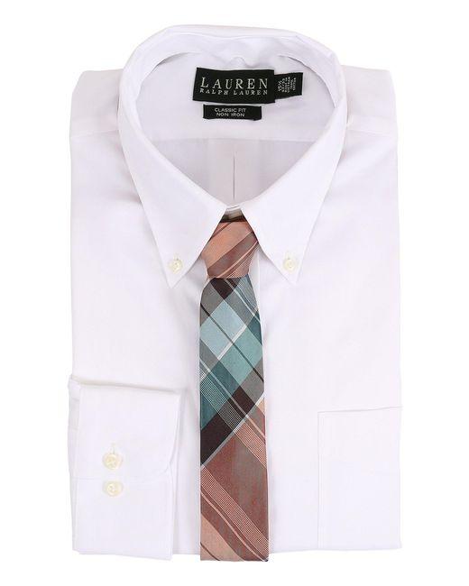 Lauren by Ralph Lauren - White Pinpoint Classic Button Down Shirt for Men - Lyst