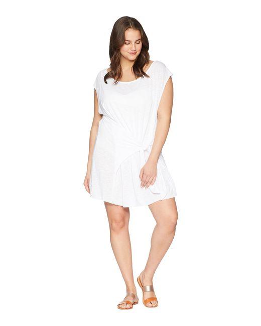 Becca - White Plus Size Breezy Basics Dress Cover-up - Lyst