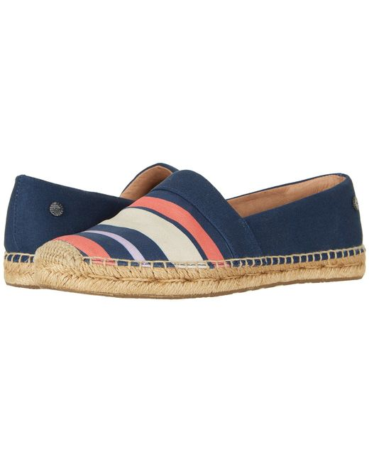 Ugg - Blue Reneda Stripe Loafer Flat - Lyst