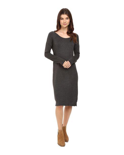 Obey - Gray Riley Raglan Dress - Lyst