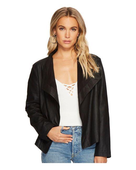 BB Dakota - Black Emerson Leather Jacket - Lyst