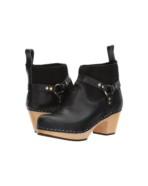 Swedish Hasbeens - Black Rivet Boot - Lyst