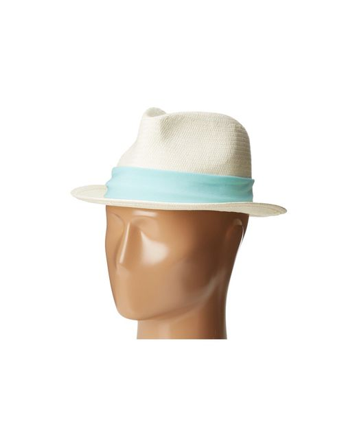Michael Stars - Multicolor Ripped Tied Fedora for Men - Lyst