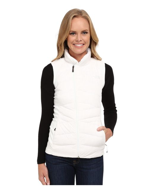 The North Face - White Lucia Hybrid Down Vest - Lyst