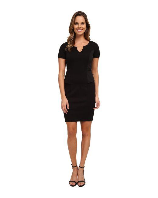 NYDJ - Black Bridget Peplum Dress - Lyst